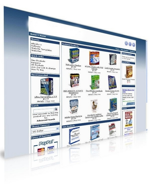 Product picture ONLINE EBOOKS STORE! PRELAODED WITH 200 EBOOKS! RESELL RIGHT